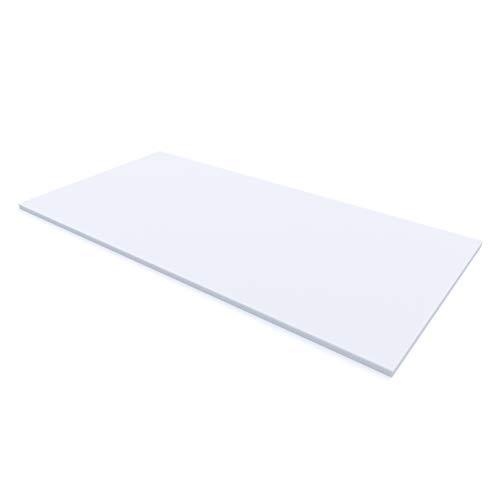 MSS® Schaumstoffplatte Polster Auflage Topper -200 x 140 x 3 cm - RG27/45