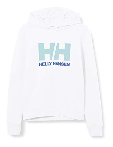 Helly Hansen Kinder Logo Hoodie, weiß, 10