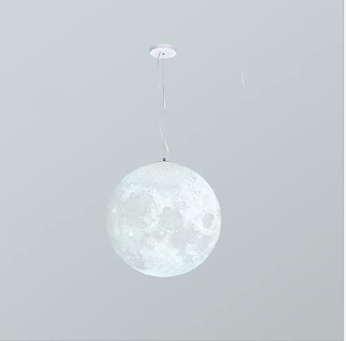 Lámpara colgante de luna tricromática con impresión 3D, lámpara de techo, lámpara de techo, lámpara de dormitorio, gran regalo para un amigo (bombilla no incluida)