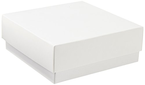 NeoLab 2-2900 Kryo opbergbox met deksel, karton, 50 mm hoog, wit