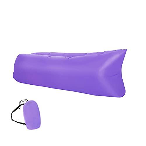 Retoo Wasserdichtes Aufblasbares Sofa 190x70cm mit Kompakte Tragebeutel, Luftsofa und Reißfestem Gewebe von bis zu 200kg, Ideal für Camping, Meer, Strand, Air Lounger, Indoor und Outdoor, Violett