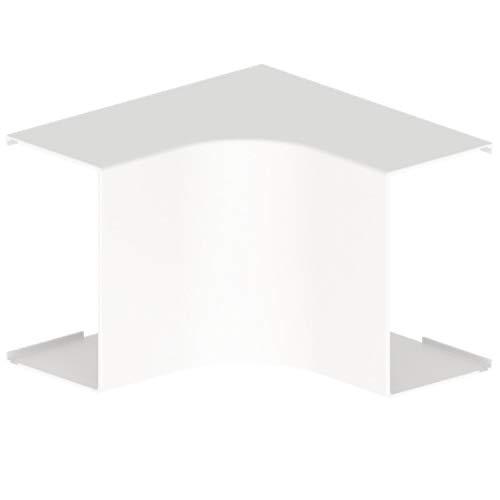Ángulo interior blanco 60x100 en U24X, 90º, material aislante, protege y cubre tubos en aparatos split en esquinas interiores, 15 x 6 x 10 centímetros, color blanco (Referencia: 31333-02)