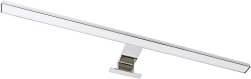 2in1 LED Spiegelleuchte Badleuchte 8W IP44 230V - Aufsatz + Aufbau - eingebauter LED Trafo (tagesweiß (4000 K))