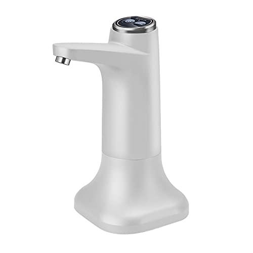 PrittUHU Bomba de Botella de Agua eléctrica con Espacio USB USB Dispensador de Agua portátil automático Bomba de Agua Dispensador de Botellas del Cubo (Color : White)