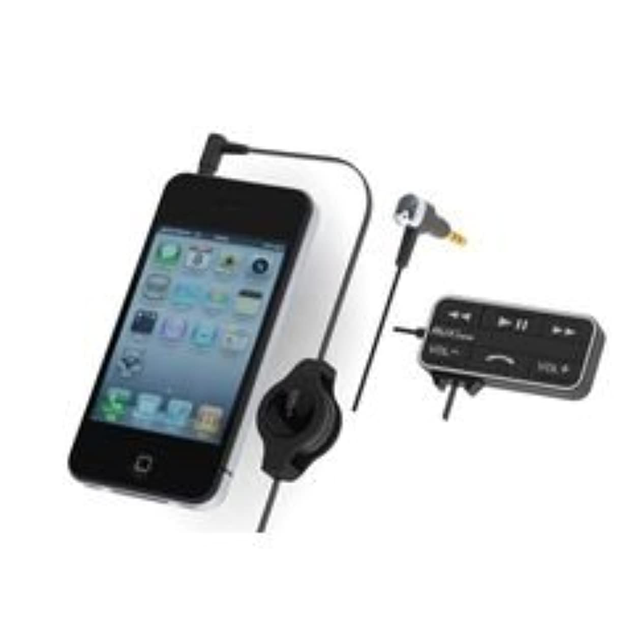 遺棄された精査する哺乳類ミラリード Giga style GS-141 リモコン付AUX音楽コード&マイク(iPhone)BK