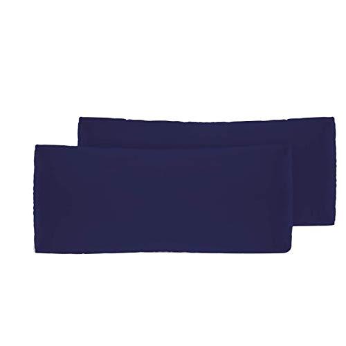 Sylar 2 Fundas de Almohada Fundas de Almohada de Blanco Puro Fundas de cojín de Lino de algodón Fundas de Almohada Decorativas Neutras para sofá 40x70