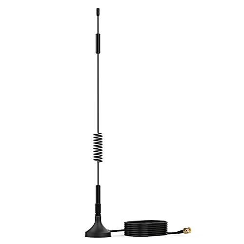 SYUTN SMA 4G LTE Antenne 12dBi Magnetfuß, SMA Stecker Signal Booster mit 3m RG174 Kabel, LTE Antenne WiFi Signal Booster Verstärker Modem Adapter Netzwerk Empfänger, für 4G LTE Wireless Router