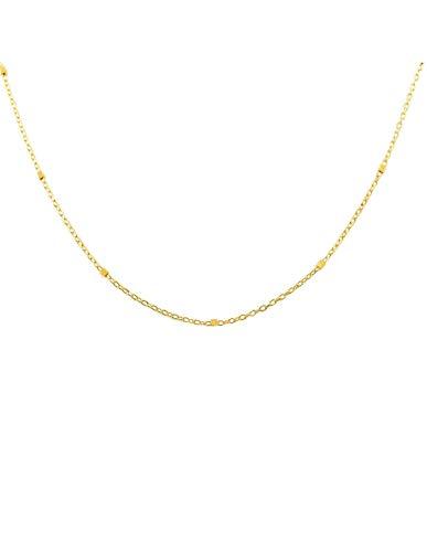 Cadena maciza entrepieza cuadradito Oro Amarillo