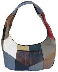 Fin Stores Womens Hobo Bag Genuine Mexican Leather Purse Shoulder Handbag Top Zip Bag