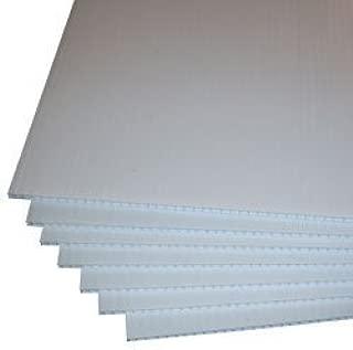4 mm blanco Coroplast en blanco señales, 18L x 18 W, 5 unidades ...