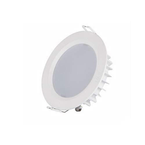 DTZW LED 5/6 Pulgadas Sala De Estar Incrustado Luz Ultra-Delgada Techo Downlight Direccional Modificación Iluminación Regulable, 5700K Luz Blanca, Una Instalación Rápida 06/23