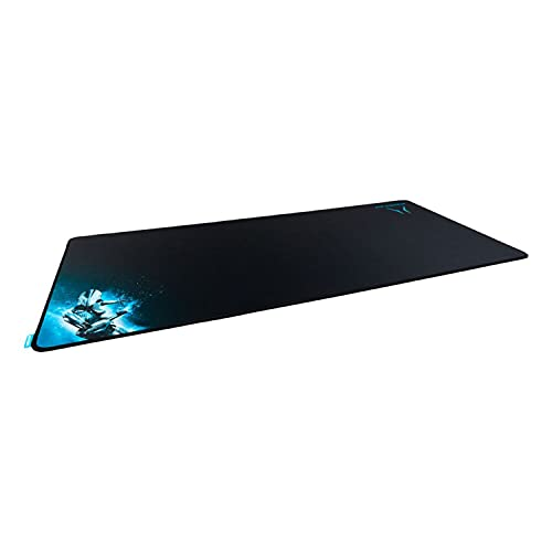 MEDION ERAZER X89108 XXL Gaming Mauspad, rutschfest, strapazierfähig, zusammenrollen und mitnehmen, 900 x 440 mmm, Kompatibel mit Allen Maustypen, Vernähter Rand - für Lange Haltbarkeit