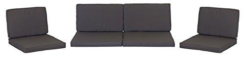 Premium Lounge Sitzkissen Kissenset für Monaco Rattan Gartengruppen 8 Kissen 100% Polyester wasserabweisend mit Reissverschlüssen Bezug abnehmbar