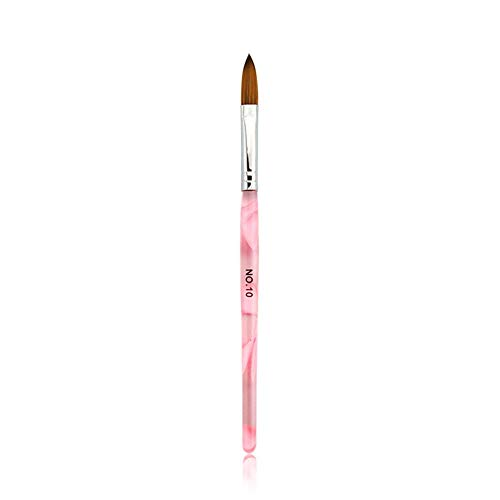 Alexnailart Pink Kolinsky Sable Brush Acrylic Builder Brush Crystal Nail Art...