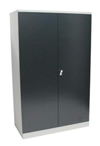 Obelixxx Werkstattschrank Schwerlastschrank Vorratsschrank 195x120x50 cm GRAU/ANTHRAZIT
