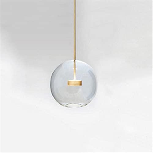 YAN FEI Accesorio de iluminación Creativo nórdico Transparente Vidrio Burbuja Techo Colgante Luces diseñador Decorativo DIRIGIÓ Linterna de Cristal Colgante Luz Moderno Elementos Restaurante