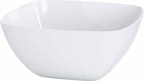 Emsa 504632 Eckige Schale (für Salat, Kunststoff, 4.6 Liter, 26.5 x 26.5 x 12.5 cm, Vienna) weiß