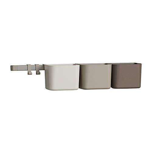 Unbekannt Leander Organisationselemente 3 Stück Boxen + 1 Lange Schiene + 2 Haken in der Farbe Cappuccino