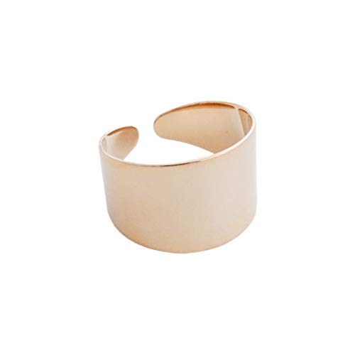 HONEYCAT Thick Wrap Open Band Ring in 18k Rose Gold Plate   Minimalist, Delicate Jewelry (Rose Gold)