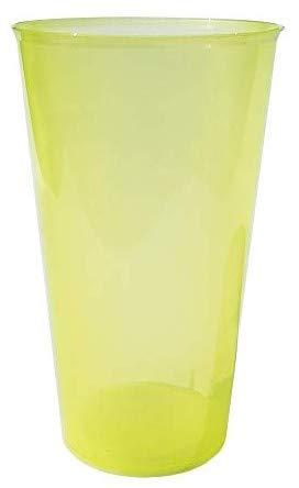TELEVASO - 420 uds Granel - Vaso Cocktail 480 ml Reutilizable Ligero - Polipropileno (PP) - Color Amarillo - Vaso ecológico Libre de BPA, Ideal para Cerveza, cubatas, Agua