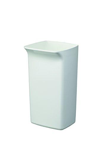 Durable 8010 Abfallbehälter Durabin Square 40 Liter weiß, Kunstoff, 40 l