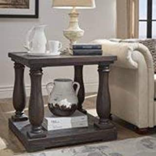Beautiful Classic Roman Inspired Easy Care Durable Sturdy Lasting for Years Decorative and Functional Dunbar Pedestal End Table with Lower Storage Shelf Dark Espresso