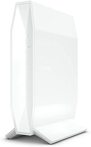 Belkin RT3200 Router Wi-Fi 6, AX3200, Router Wireless Dual Band Veloce per Streaming e Videogiochi, Filtri Famiglia, 4 Porte Gigabit Ethernet, Bianco