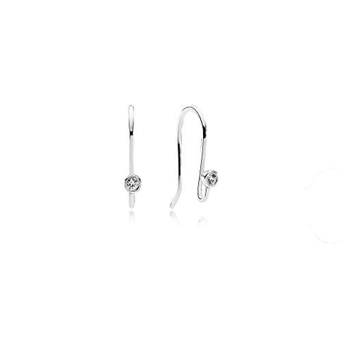 Glänzende Ohrringe Haken 925 Silber einfache Mode Persönlichkeit Ohrringe Schmuck weiblich