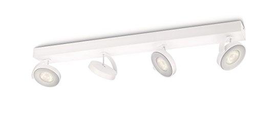 Philips 5317431P0 myLiving Spot Clockwork Warmglow 4 Flammig, 500 lm, Metall, 4,5 W, Integriert, weiß, 9,3 x 62,8 x 9 cm