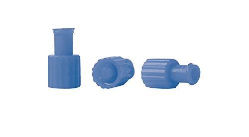 Kombistopfen 100 Stück steril BLAU Kombi-Verschlussstopfen Einmalspritzen Stopfen Verschlußstopfen Luer Lock steril