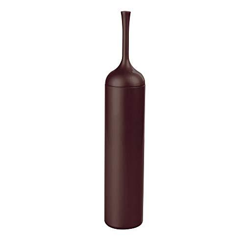 mDesign Moderna escobilla de baño con portaescobilla – Excelente soporte con escobilla del váter de – Discreto escobillero de baño de pie en plástico duradero – marrón oscuro