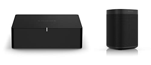 Sonos Port | WLAN Streaming für Stereoanlagen und Receiver (WLAN, AirPlay2, 12-V-Trigger) (Set mit 1x Sonos One SL)