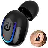 Bluetooth Headphone, Kissral Wireless Sport Earbud 8 Hours Talking Time HD Microphone Bluetooth Headset(One Piece)- Black