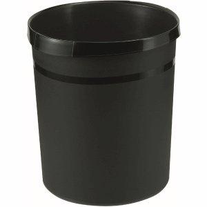 Han Papierkorb Grip mit Griffmulden 18 Liter öko-schwarz