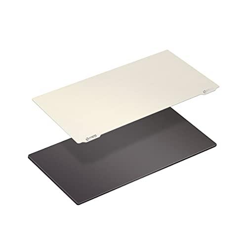 BCZAMD Mono X UV-Harz-3D-Drucker Abnehmbare Federstahlplatte 202x128mm/7,9x5 Zoll mit Magnetfolie Stark klebende Heizbettteile Kompatibel mit Photon Mono X/Photon X/SainSmart KL-9 Zubehör