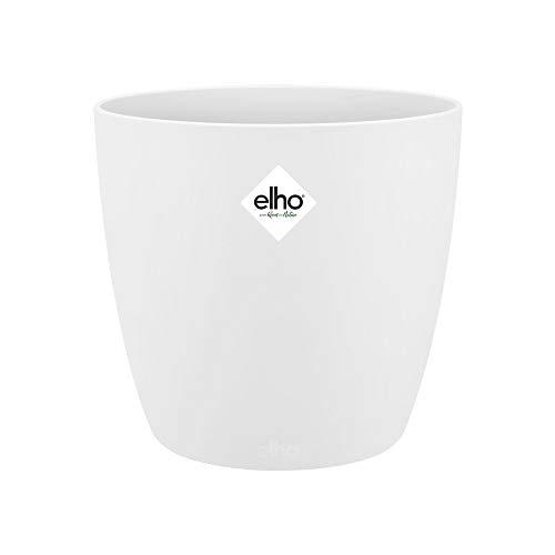 Elho Brussels Round Maceta Redonda, White, 20,3x20,3x18,6 cm