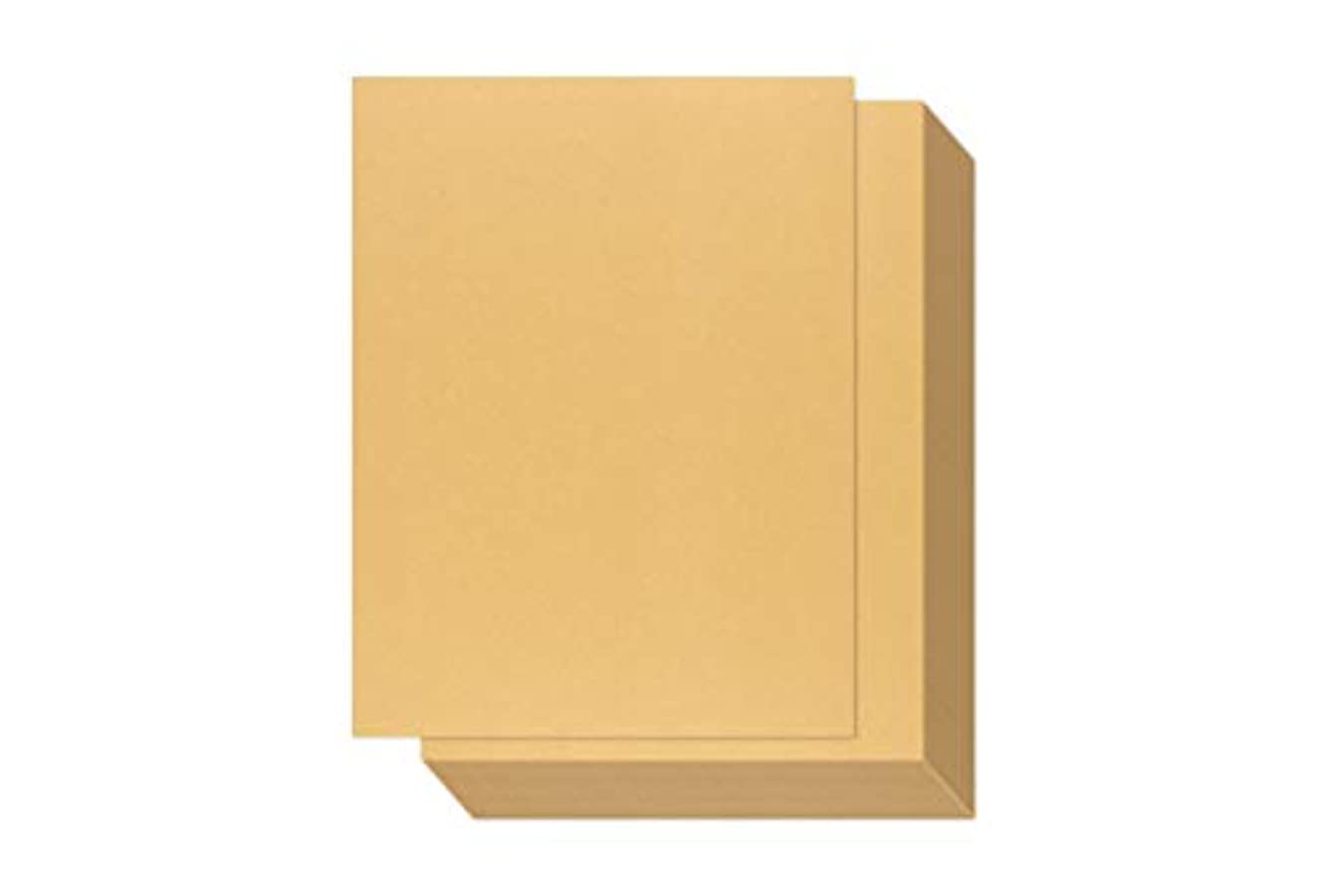 Gold Shimmer Paper - 100-Pack Metallic Cardstock Paper, Double Sided, Printer Friendly - Perfect for Weddings, Birthdays, Craft Use, Letter Size Sheets, 8.5 x 11 Inches