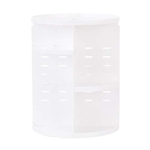 Cajones de caja de almacenamiento de cosméticos de escritorio Joyas ajustables Perfumes cosméticos Capas de soporte de exhibición Capas de caja de gran capacidad para el dormitorio-blanco
