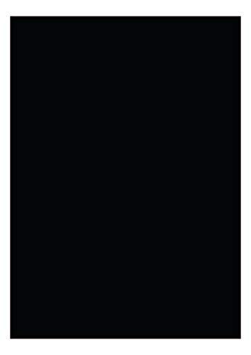 das-label Selbstklebende Vinylfolie schwarz | Outdoor glänzend | DIN A4 Basteln Scrapbook | Vinylfolie zum Einlegen in Plotter | Sticker | Aufkleber | Markierungspunkte
