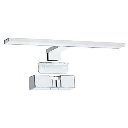 SEBSON® Lampara Espejo Baño LED 40cm, Luz Espejo Pinza + Armario + Pared, 8W, 600lm Blanca Neutra 4000K, IP44-400x128x40mm