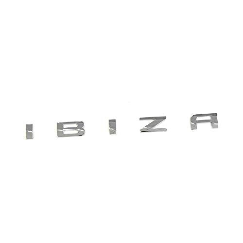 Seat 6L6853687739 Ibiza Adhesivo para portón trasero, emblema cromado