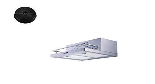 respekta Umluftset_CH116IXA+MIZ0031 Dunstabzugshaube Unterbauhaube 60 cm + Aktivkohlefilter
