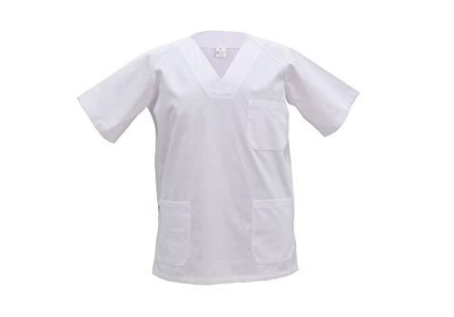 GRUPO MARBLAN Casaca Sanitaria Unisex Cuello Pico (L)