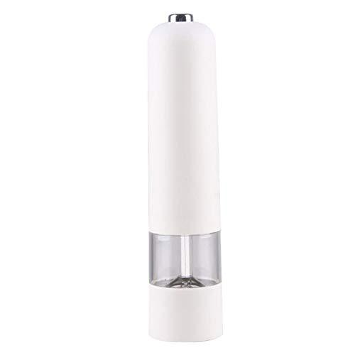 QKFON Molinillo eléctrico de sal y pimienta de acero inoxidable para cocina,...