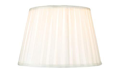 Traditionelle klassische klassische Creme Kunstseide plissiert innen gefüttert Lampenschirm - 10