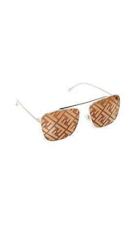 FENDI Gafas de Sol FF FAMILY FF 0406/S GOLD/BROWN 61/16/135 mujer