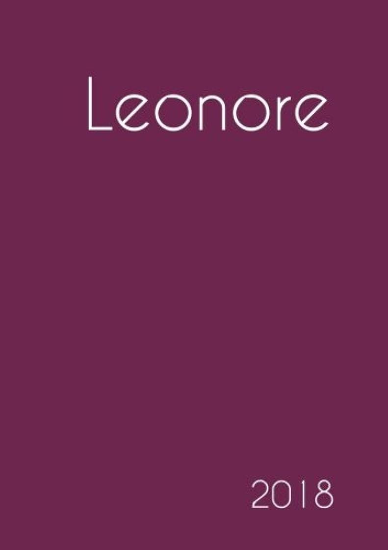 晩餐輸送打撃2018: Namenskalender 2018 - Leonore - DIN A5 - eine Woche pro Doppelseite