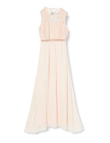 Amazon-Marke: TRUTH & FABLE Damen Maxi-Spitzenkleid, elfenbein (Mandel), 38, Label:M