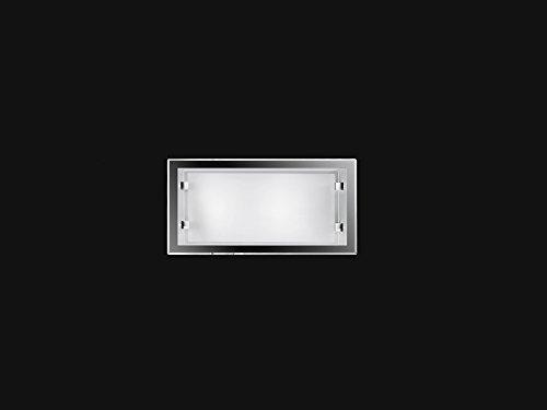 Plafoniera da soffitto Perenz 5743B Lampada plafoniera da parete o da soffitto realizzata in vetro con bordi di colore bianco