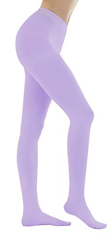 Women's 150 Denier Thick Footed Tights Pantyhose (Lavender - 2Pair, S/M)